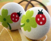 love at first sight - ladybug - 2 ponytail holders