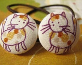 sweet kittens   - 2 ponytail holders