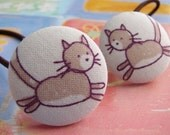 my cat dances all day long - 2 ponytail holders