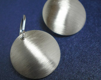 Sterling Silver Domes - Brushed Finish - Earrings - Argentium Sterling Silver xterm