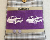 Cross Body Bag -  BADASS - Violet and Tan - Cars