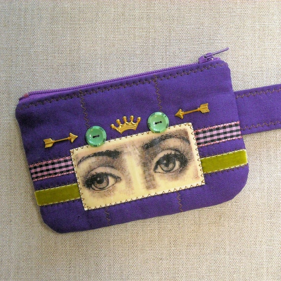 Zipper Cell Phone Case - Change Purse - Gazing Eyes