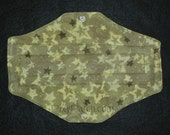 Army Green Stars - Cloth Menstrual Pad - Heavy
