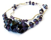Swarovski Crystal Amethyst Sterling Silver Necklace