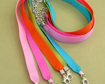 Ribbon Necklaces set of 10 Reduced