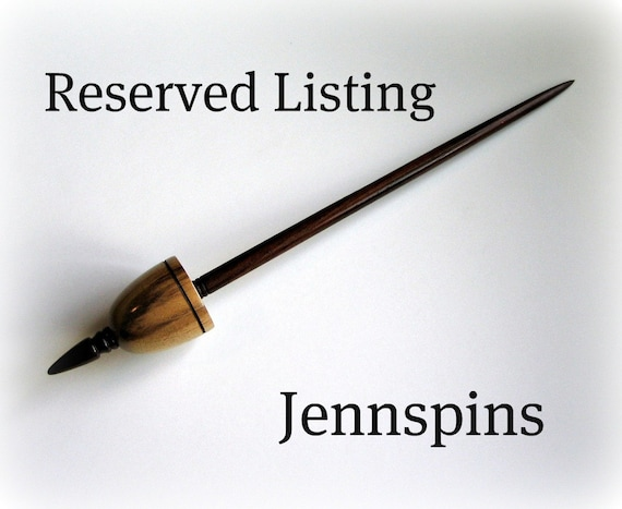 Reserved Listing for Jennspins-Tibetan Lite Myrtlewood and East Indian Rosewood Support Spindle