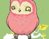Pink Owl, 5x7