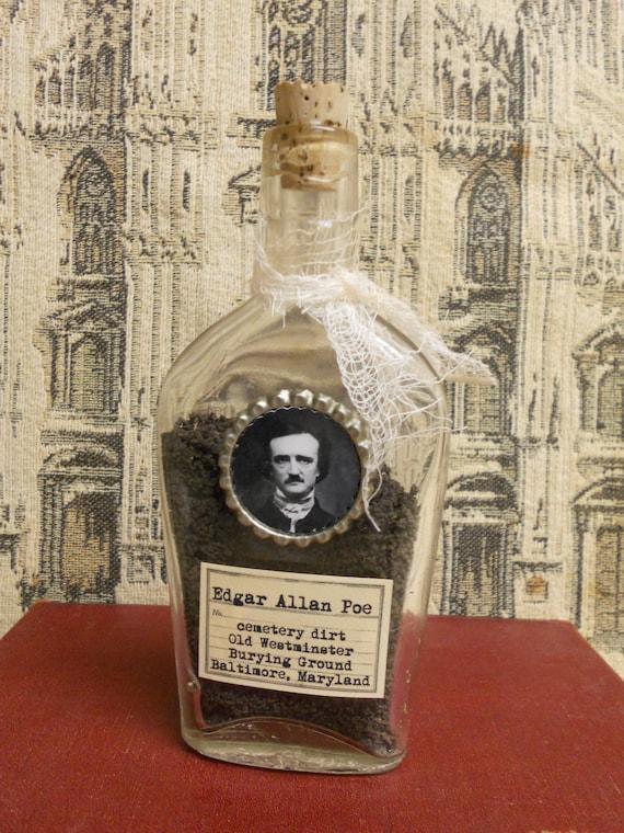 Edgar Allan Poe - Cemetery Dirt art bottle