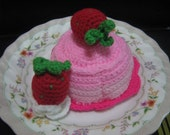 Crochet Food Pattern Dessert Crochet Pattern PDF Instant Download Strawberry Pudding