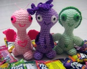Amigurumi Crochet Pattern Crochet Plush Pattern PDF Instant Download CUTEES Plumie, Gwen and Peony