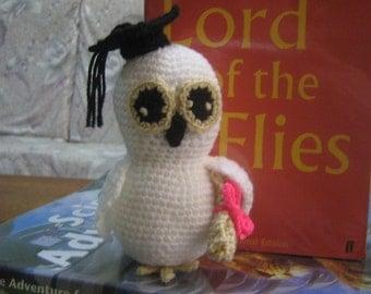 Amigurumi Crochet Pattern Owl Crochet Pattern Animal Pattern PDF Instant Download Wise White Owl Oakley