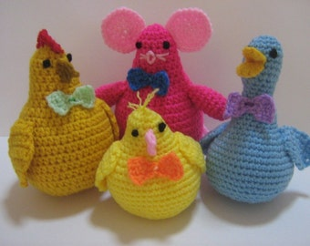 Amigurumi Crochet Pattern Animal Crochet Pattern PDF Instant Download Cute Animal Companions