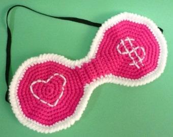 Eye Mask Crochet Pattern PDF Instant Download Sleeping Eye Mask