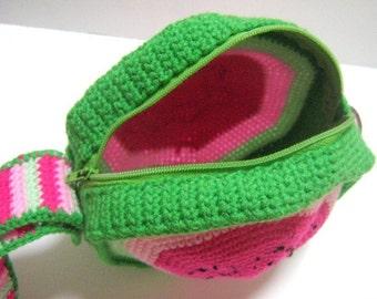 Bag Crochet Pattern Wristlet Crochet Pattern Purse Crochet Pattern PDF Instant Download Watermelon Purse cum Wristlet