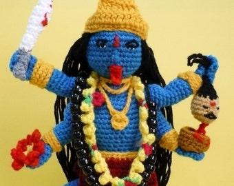 Goddess Crochet Pattern Amigurumi Doll Pattern PDF Instant Download Goddess Hindu Goddess Kali
