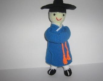 Korean Doll Crochet Pattern Amigurumi Crochet Pattern PDF Instant Download Korean Guy Gi Hanbok