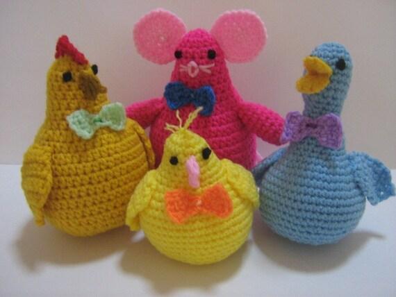 Amigurumi Cute Animals : PDF Crochet Amigurumi Pattern Cute Animal Companions