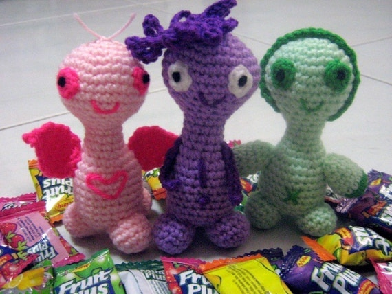 Amigurumi Crochet Pattern Crochet Plush Pattern PDF Instant Download CUTEES Plumie, Gwen and Peony