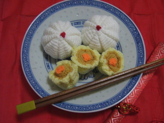Food Crochet Pattern Dim Sum Crochet Pattern PDF Instant Download Chinese Dim Sum Pork Bun and Pork with Shrimp Dumpling
