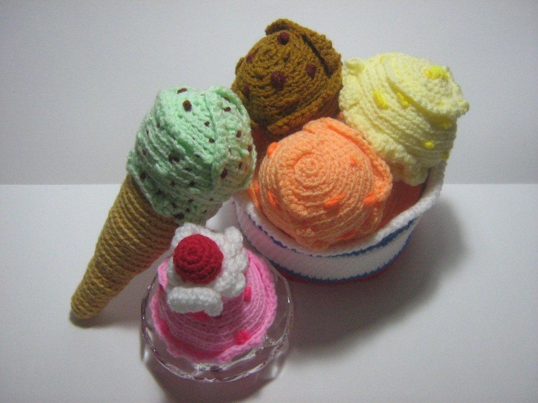 Ice Cream Crochet Pattern Dessert Crochet Pattern Food PDF