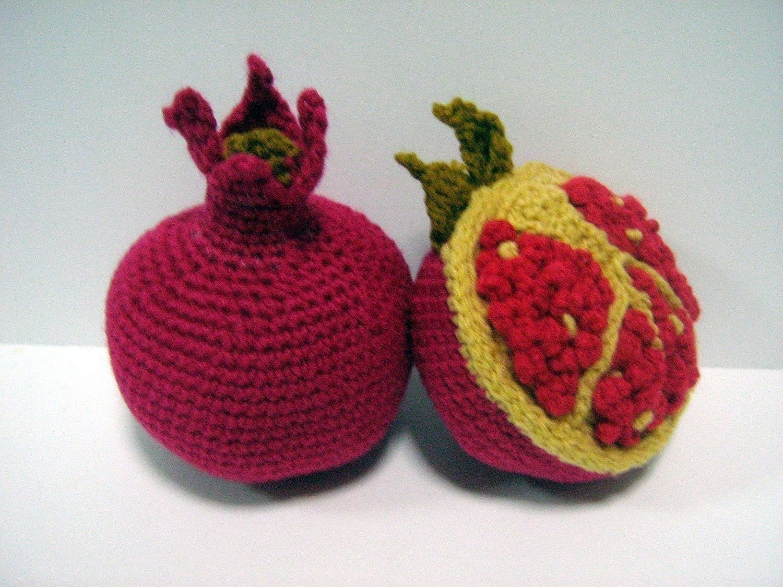 Crochet Amigurumi Vegetables : Fruit Crochet Pattern Pomegranate Crochet Pattern PDF Instant