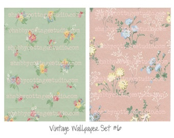 INSTANT DOWNLOAD Digital Vintage Wallpaper Set 6