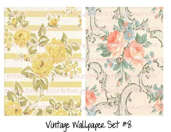 Digital Vintage Wallpaper Set 8