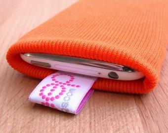 iphone sock - orange