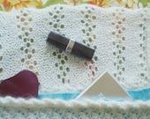 Knit Handbag 'Pearl Clutch' in Cream Wool/Tencel with Silk Lining