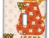 Calico Kitchen 1950's Vintage Wallpaper Switch Plate