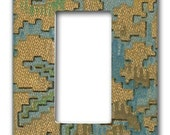 Floral Tapestry 1920's Antique Wallpaper Decora Switch Plate