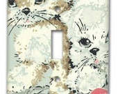 Cuddly Kittens 1950's Vintage Wallpaper Switch Plate