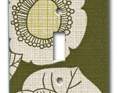 Mod Dutch Floral 1970's Vintage Wallpaper Switch Plate