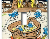 Smurf Stew for Gargamel & Azrael Single Switch Plate 1981 Vintage Smurf Wallpaper