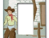 Lonesome Cowboy 1940's Vintage Wallpaper Decora Switch Plate