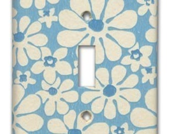 Mod Daisy 1960's Vintage Wallpaper Switch Plate