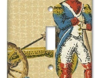 Revolutionary Dude 1960's Vintage Wallpaper Switch plate