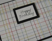 RESERVED for SEKABAT--happy birthday\/stitched plaid
