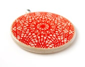 Red Web - PENDANT - 1967 Spirograph Instruction Booklet