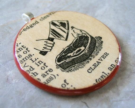 Cleaver - Sushipot Vintage Ephemera Pendant