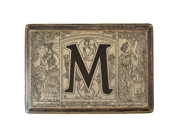 The letter m monogram plaque 1922 french dictionary for Letter plaques