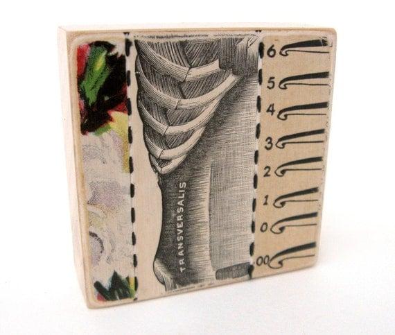 Transversalis - COLLAGE ART BLOCK - Original Mixed Media Collage