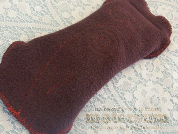 OOAK Chocolate Bamboo & Organic Cotton Cloth Menstrual Pad