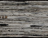 """ORIGINAL Painting - """"Weatherboard III"""" (One of Four) - Bitumen, Acrylic Paint and Mark Making on Recycled Pine Board (40cm x 16cm)"""