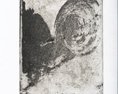ORIGINAL and Unique Sugar-lift and Aquatint Etching, White State - 'Untitled'