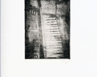 ORIGINAL and Unique Softground Etching - 'Untitled'