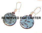 RESERVED FOR CARTER Iced Blue Floating Circle Earrings
