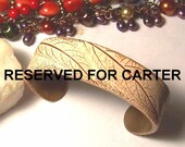 RESERVED FOR CARTER Umber and Ivory Leaf Cuff
