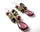 Iris Cascade Earrings