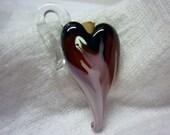 Heart Aflame Aromatherapy Vessel, Pendant-Lampwork